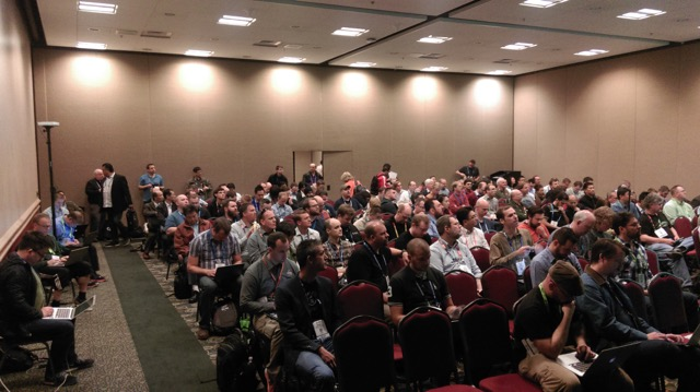 Scientific OpenStack BoF crowd