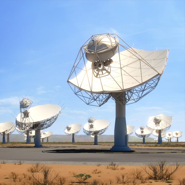 Artist's impression of SKA dishes in South Africa