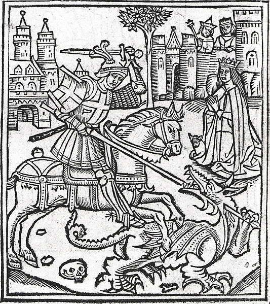 St George and the Dragon (Wikipedia, public domain)